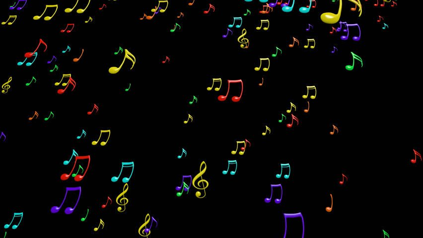 3d Colorful Music Notes Wallpaper: 4K Animated Wallpaper
