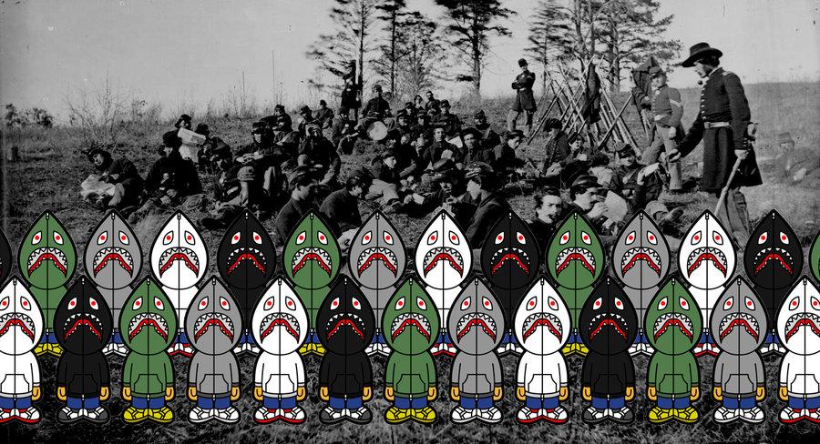 BAPE Shark Hoodie wallpaper by thatboynamedput 900x488