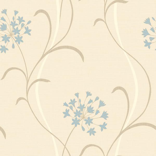 MIA Cream Blue Wallpaper Arthouse eBay 600x600