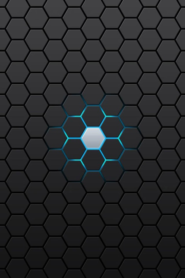 Abstract Black Hexagon Iphone 4 Wallpapers 640x960 Hd Iphone 4 640x960
