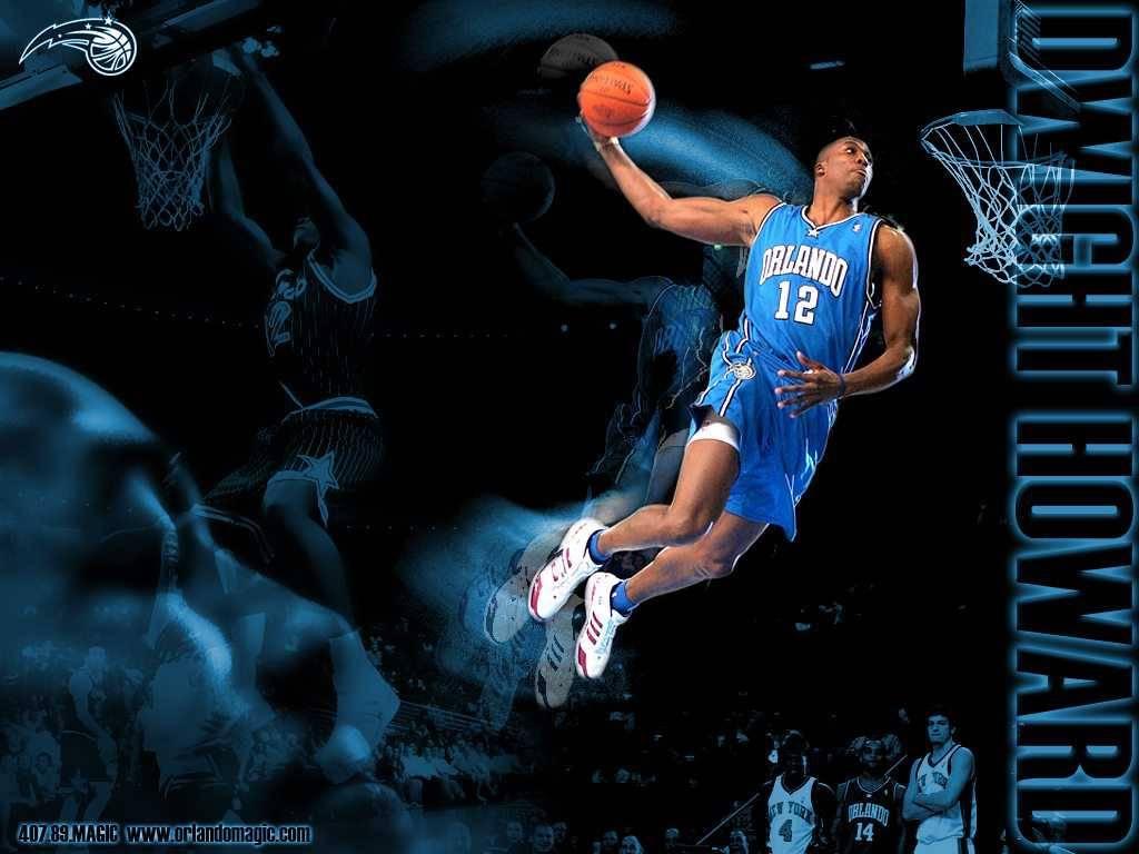 NBA Orlando Magic Dwight Howard High Slam Dunk Photo   Orlando Magic 1024x768