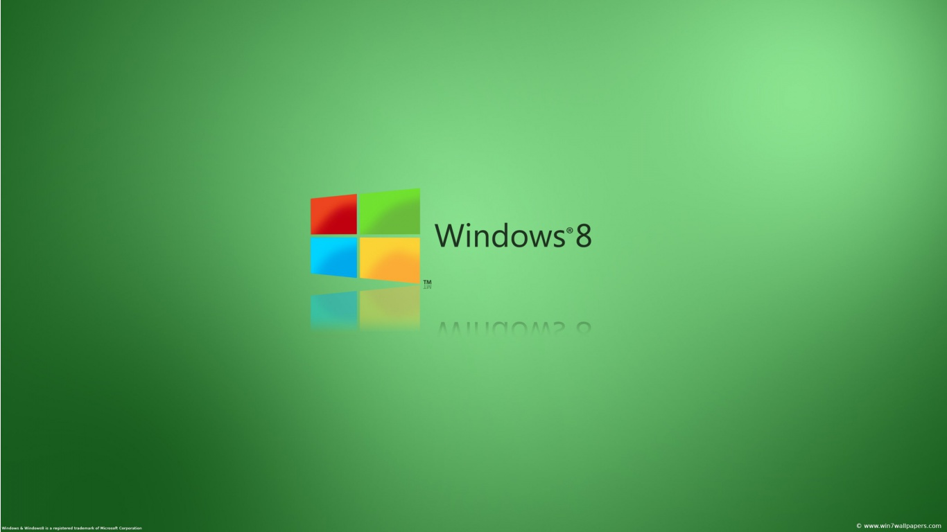 Windows 8 Green wallpaper desktop background in 1366x768 HD 1366x768