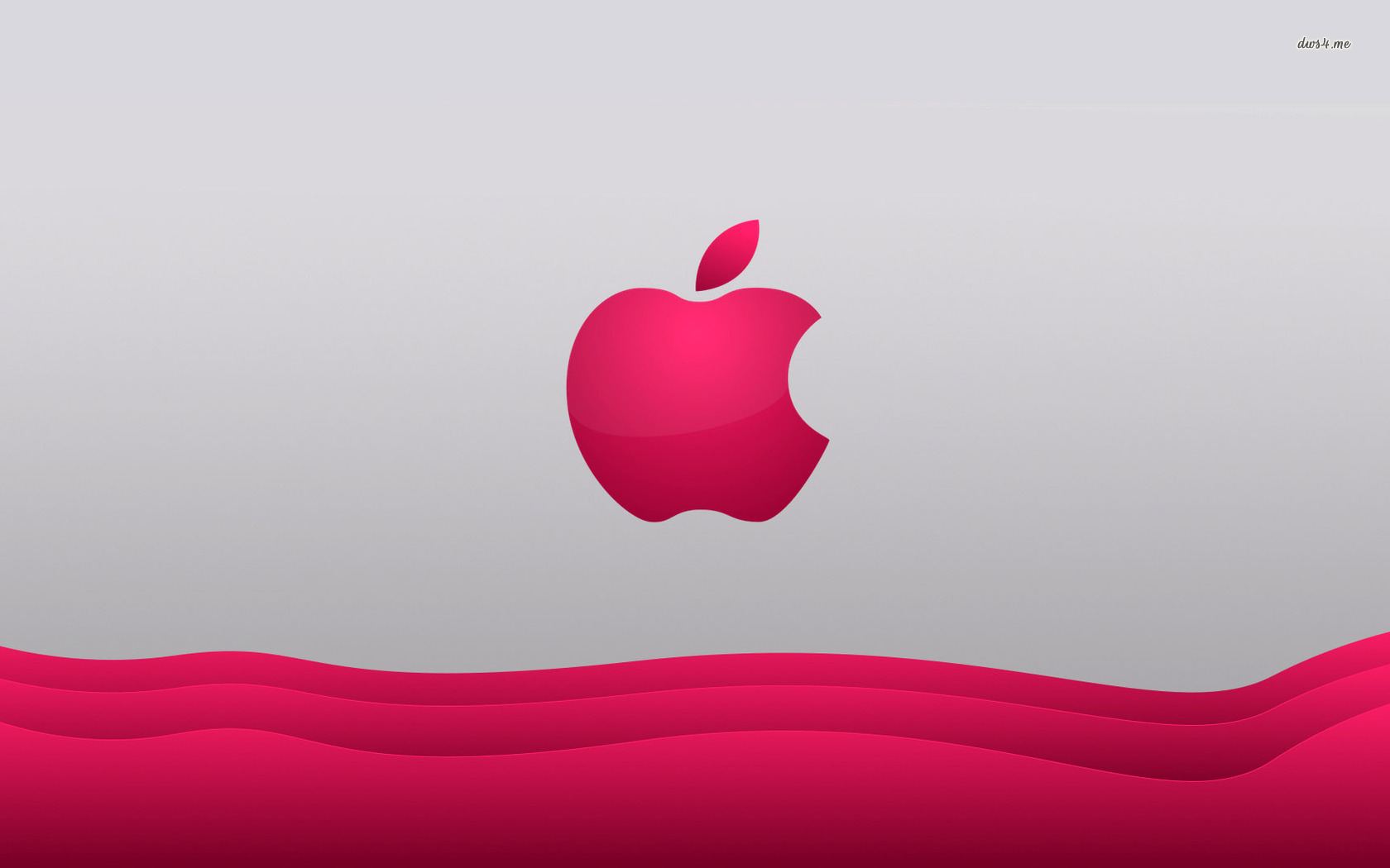Hot Pink Apple Wallpaper Hot pink apple 1680x1050