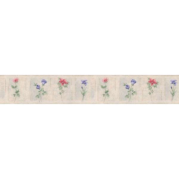 Purple Floral Border Floral Wallpaper 600x600