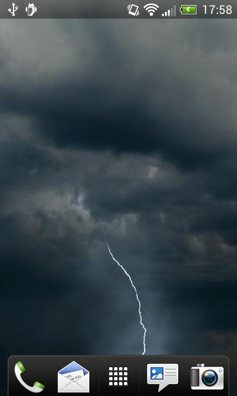 Storm Lightning Live Wallpaper   screenshot 480x800