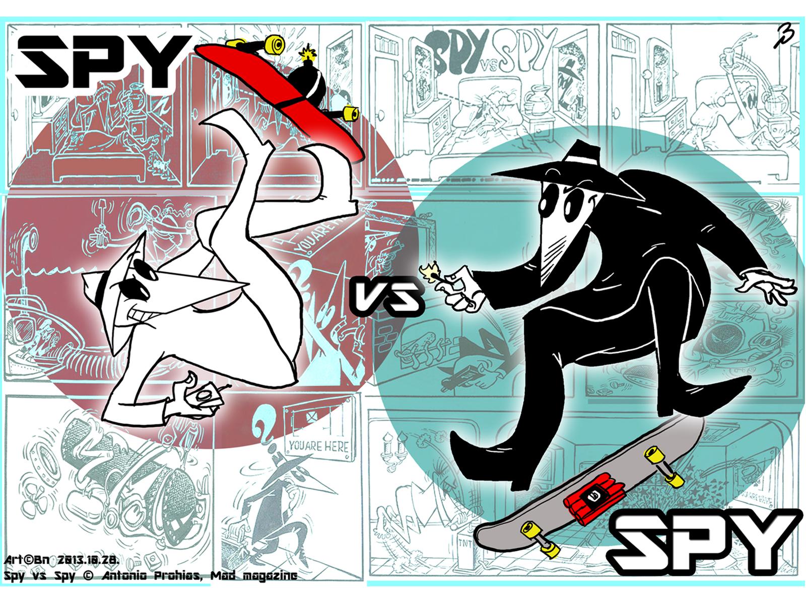 Spy vs Spy   Skateboarding wallpaper by Cluny91 1600x1200