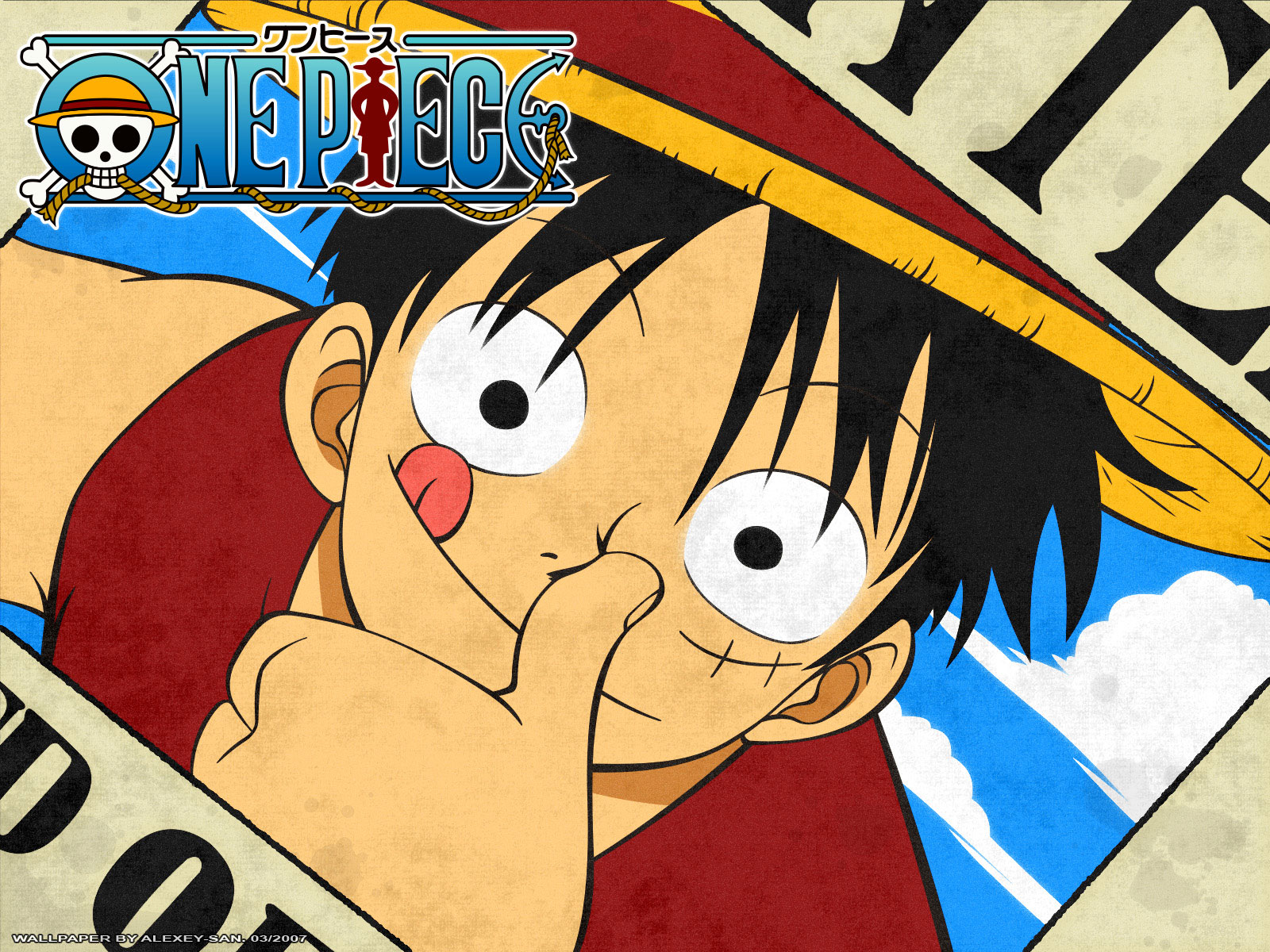 Luffy Wanted Poster HD Wallpaper   One Piece Anime Wallpaper 1600x1200