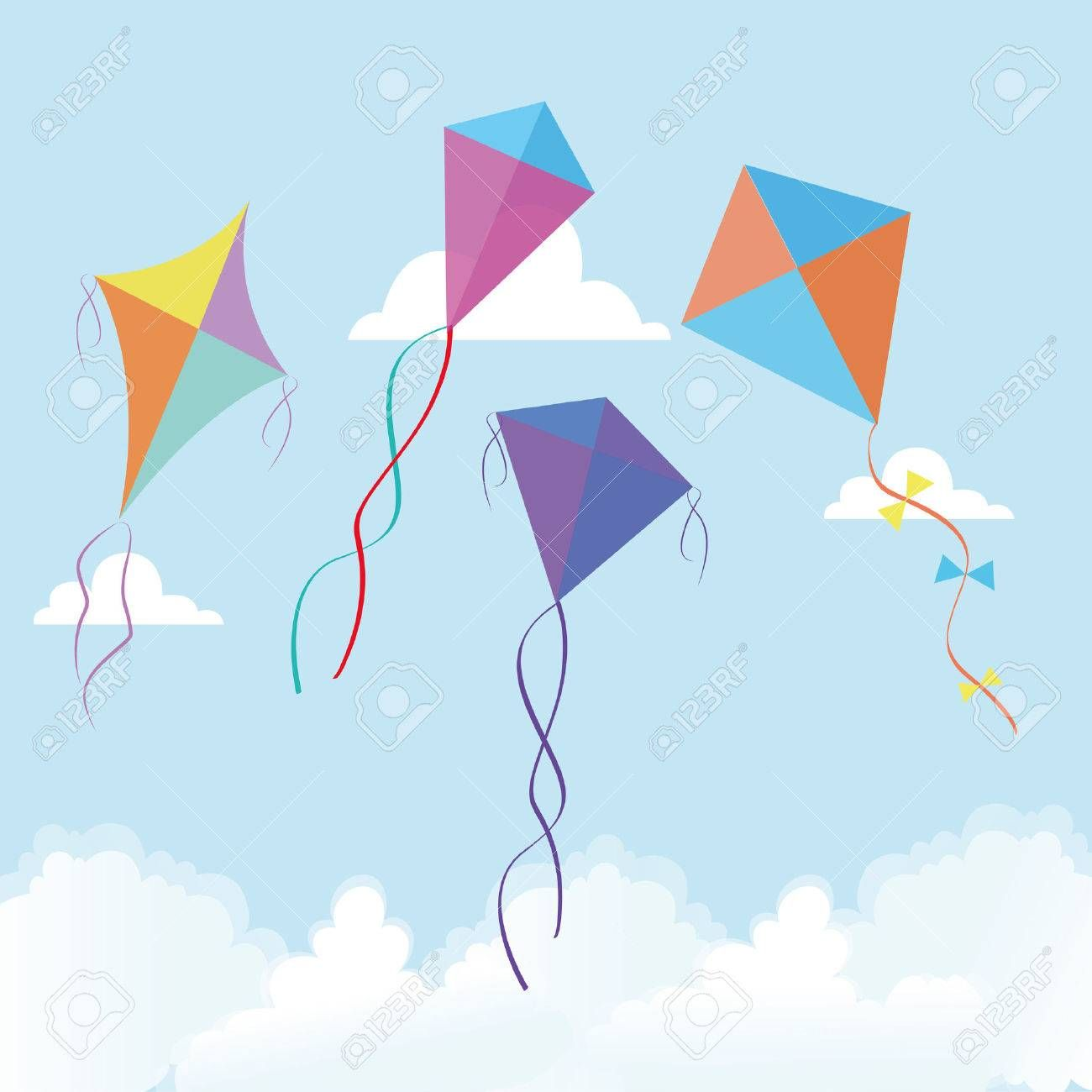 abstract cute kites on a special background affiliate cute 1300x1300