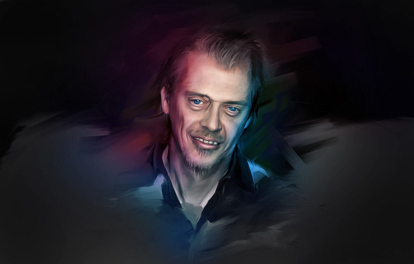 Wallpaper look art actor blue eyed Steve Buscemi images for 1332x850