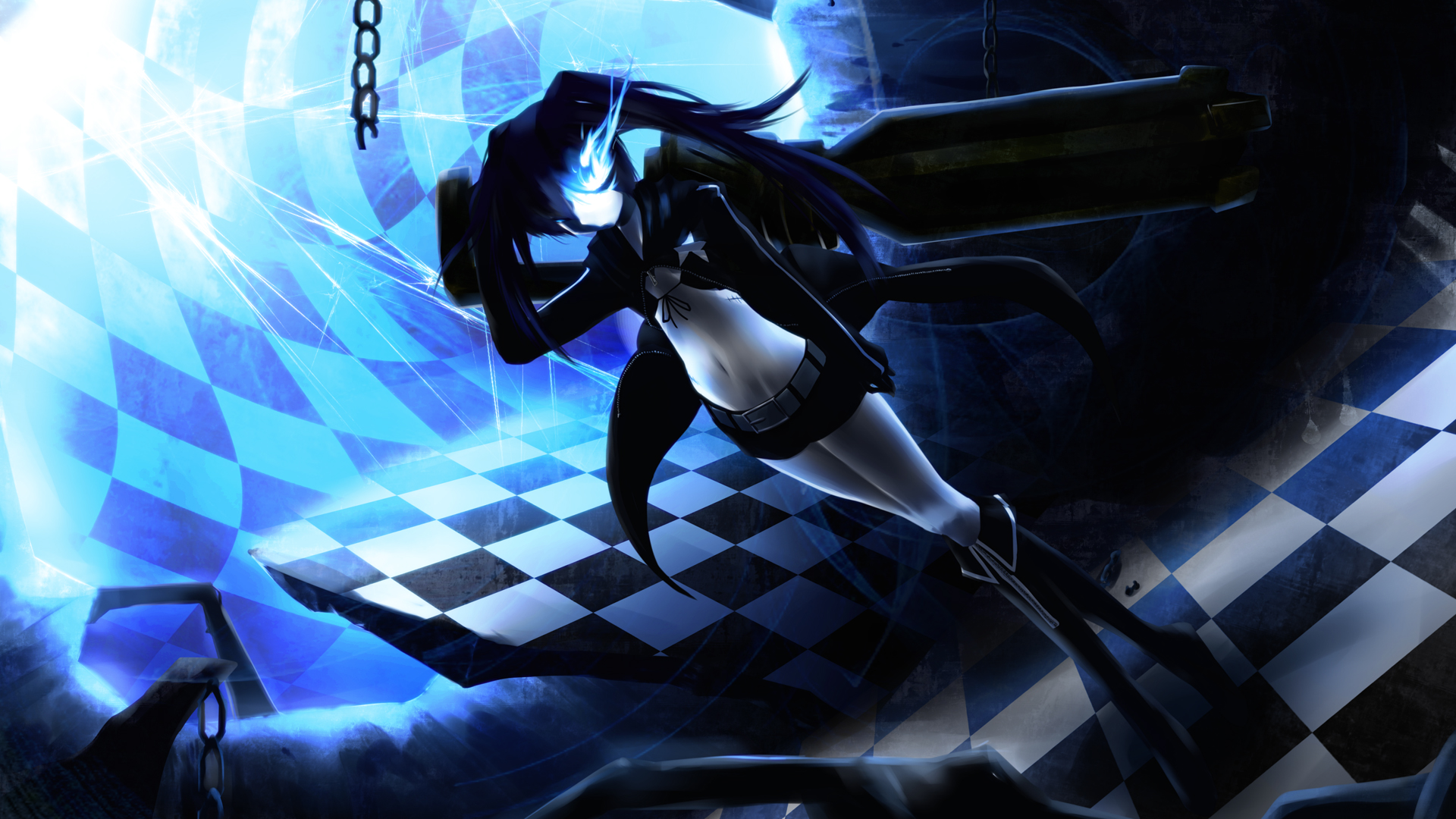 Free Download Black Rock Shooter Full Hd Wallpaper And Background