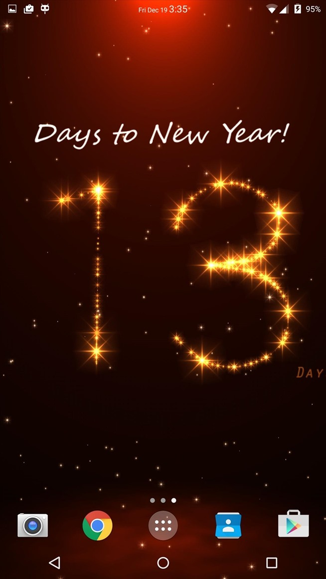 Turn Your Androids Wallpaper into a Christmas New Years Countdown 654x1162