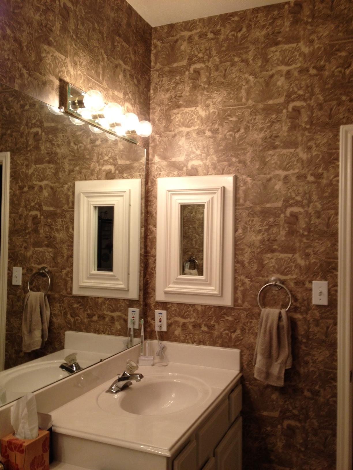 [50+] Paint Over Wallpaper in Bathroom on WallpaperSafari