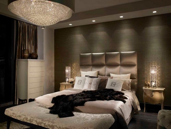 Designer bedroom wallpaper ideas Armani Casa wallpaper contemporary 600x451