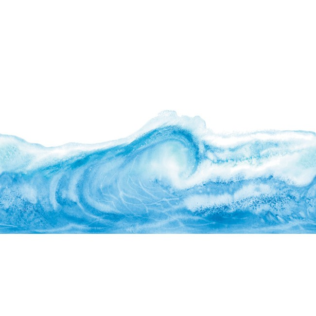 Ocean Wave Waves Laser Cut Wallpaper Border   All 4 Walls Wallpaper 650x650