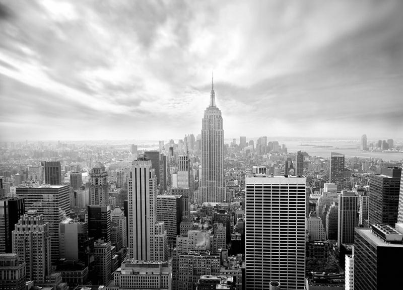 Wall Mural photo Wallpaper New York City Skyline Black and White wall 800x576