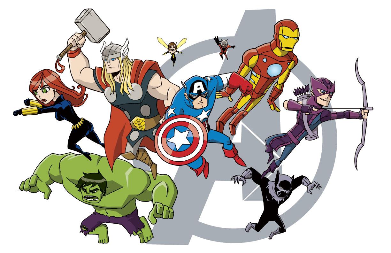 Avengers cartoon wallpaper wallpapersafari - Images avengers ...
