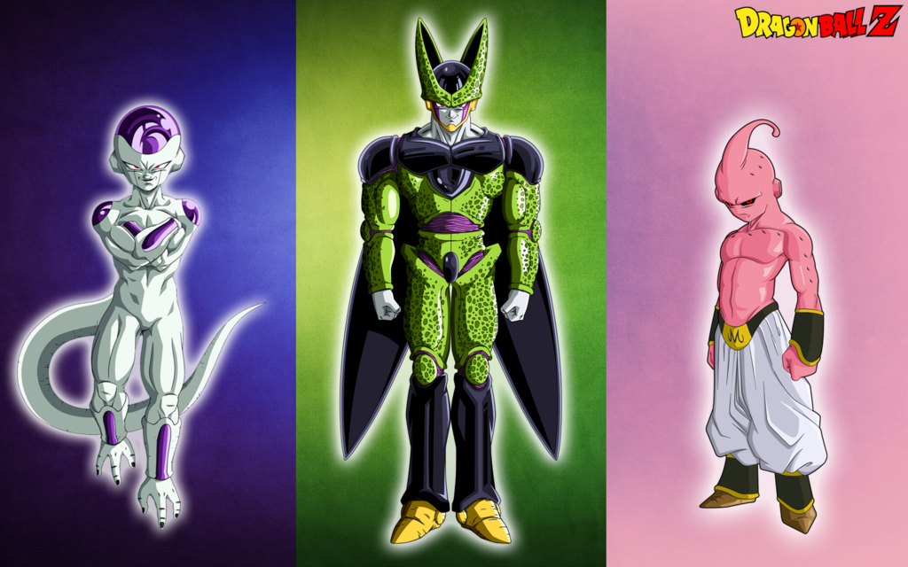 dbz wallpaper frieza cell buu dbz dragonballzwallpaper buu cellshading 1024x640