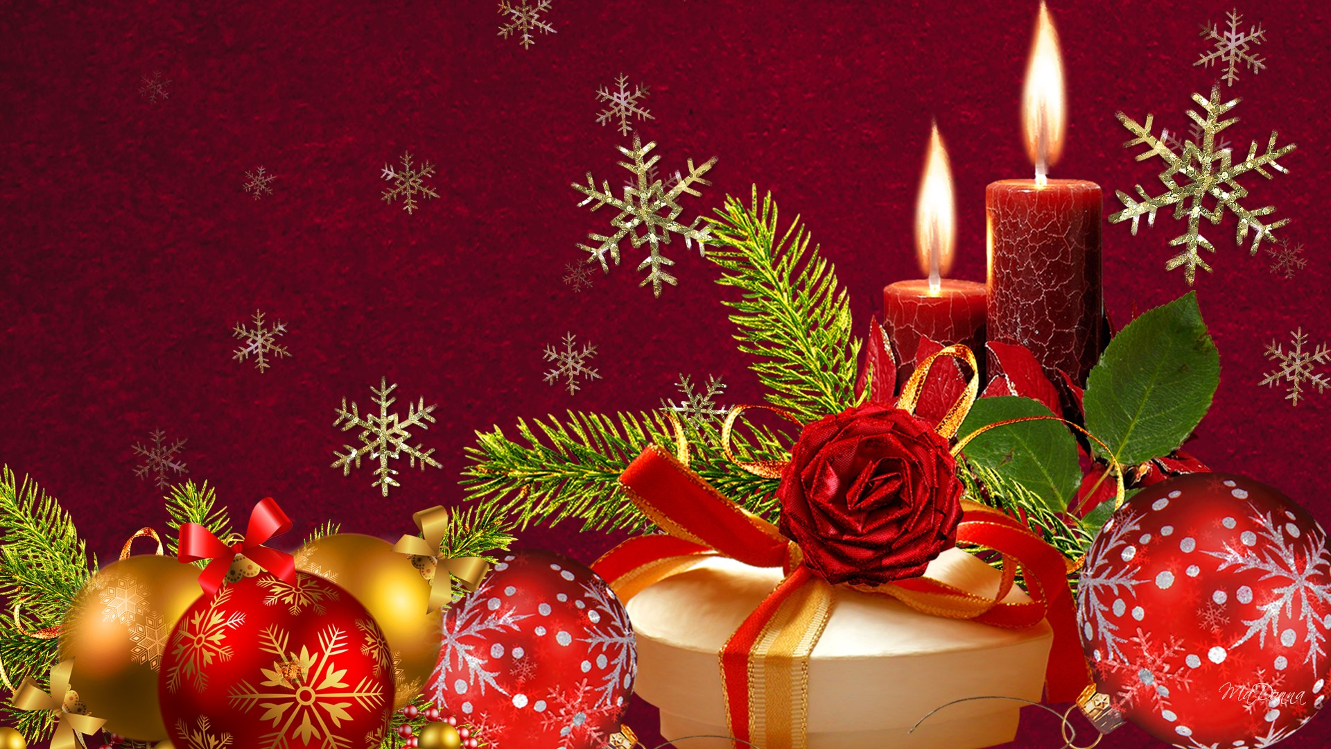 Red and Green Christmas   Backgrounds Wallpapers Pictures Pics 1920x1080