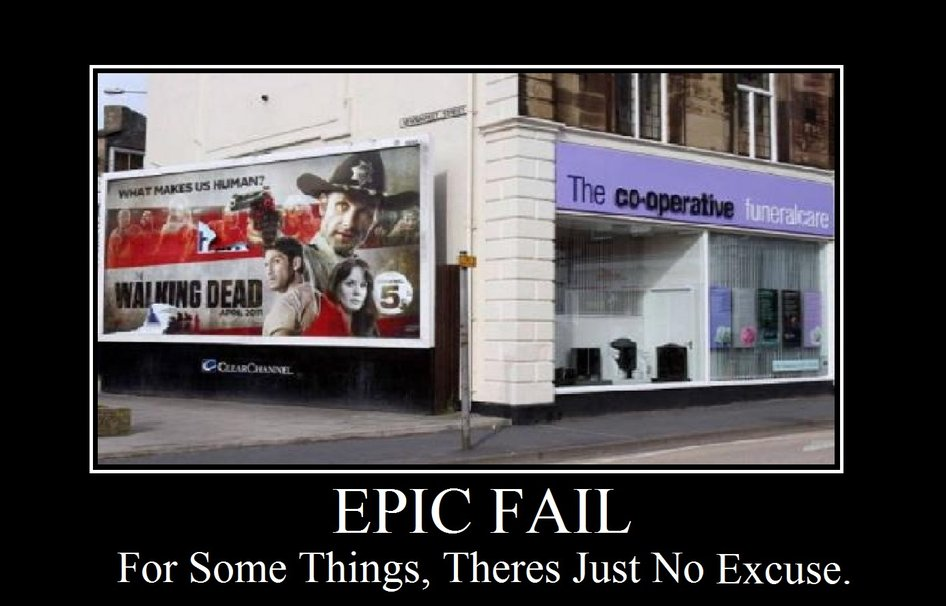 THE WALKING DEAD EPIC FAIL wallpaper ForWallpaper 946x606