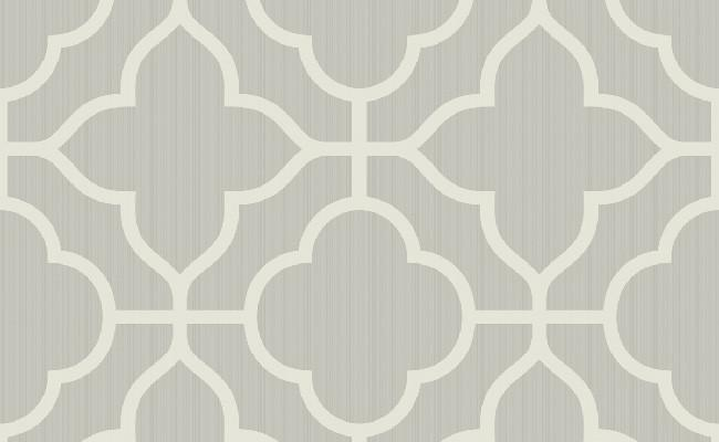 Traditional Ogee White and Grey Wallpaper 650x400