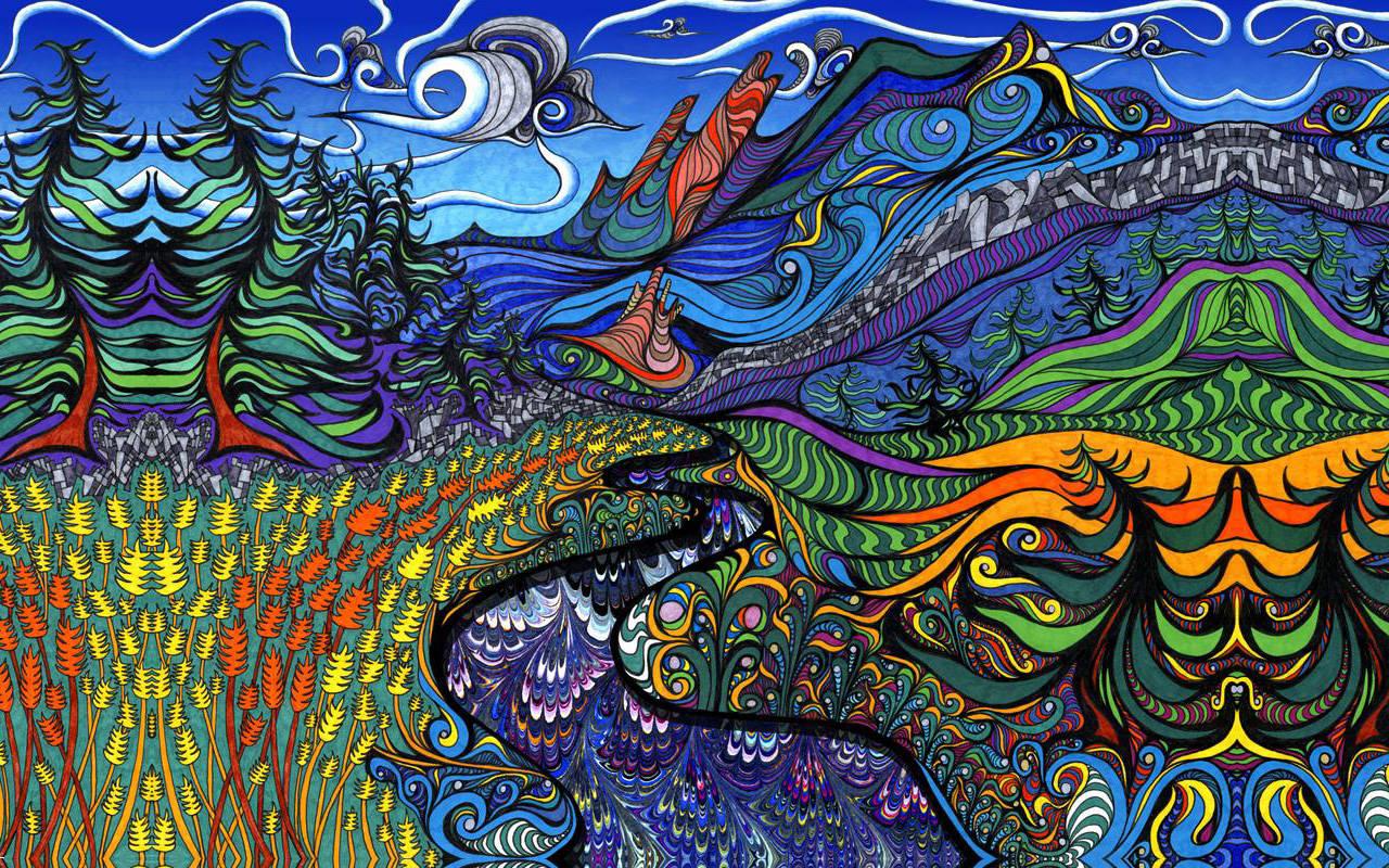 Download Psychedelic Landscape Wallpaper 1280x800 1280x800