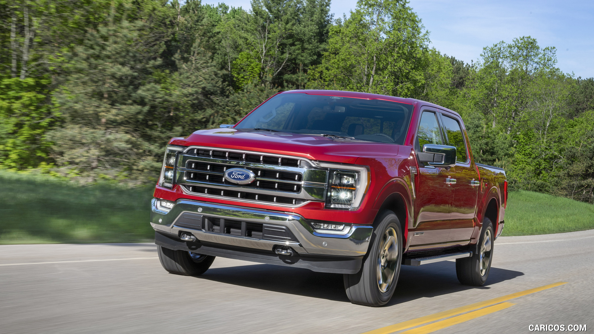 2021 Ford F 150 Lariat Color Rapid Red Metallic   Front HD 1920x1080