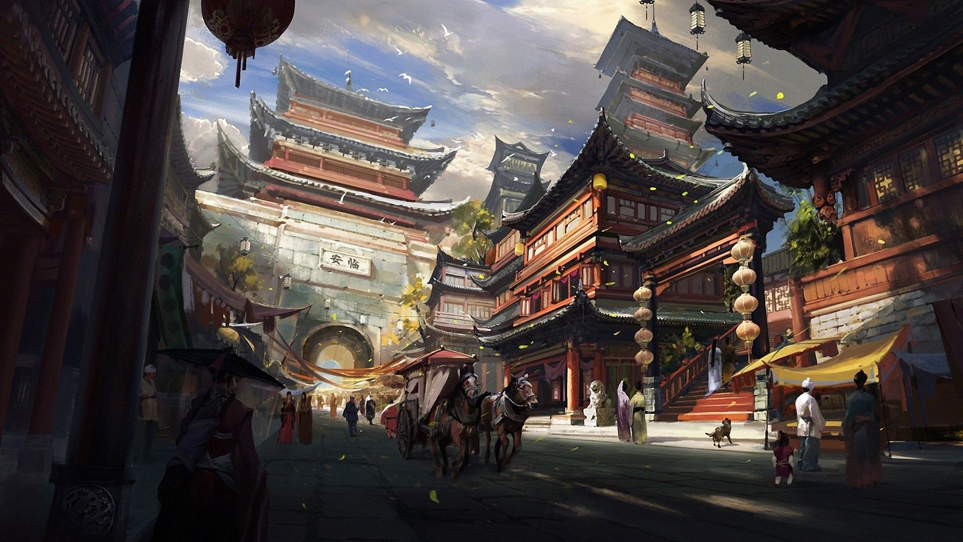 Chinese Festival Painting HD Wallpaper FullHDWpp   Full HD 1920x1080