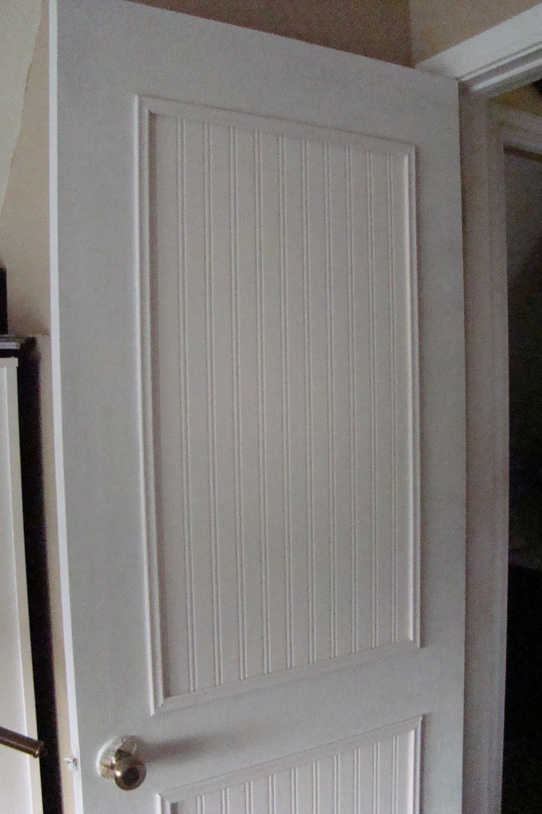 Beadboard wallpaper for cabinets wallpapersafari - Wallpaper on kitchen cabinet doors ...