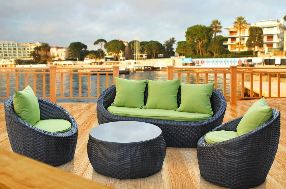 Olivia Green Patio Furniture Sofa Set HD Wallpaper 1000x661