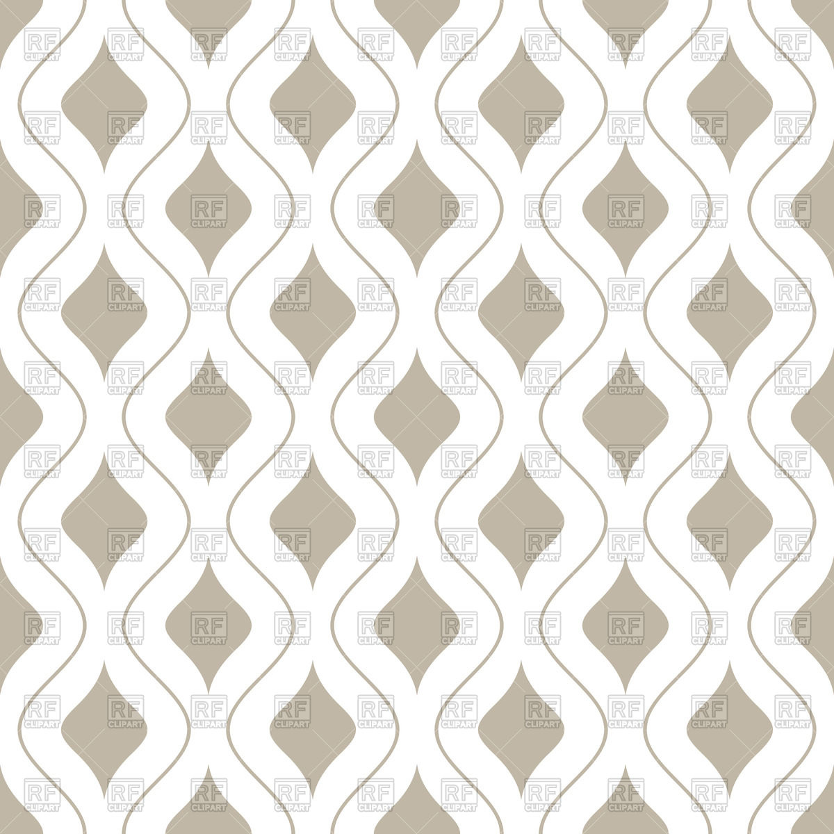 White and beige seamless wallpaper with wavy lines 47974 Backgrounds 1200x1200