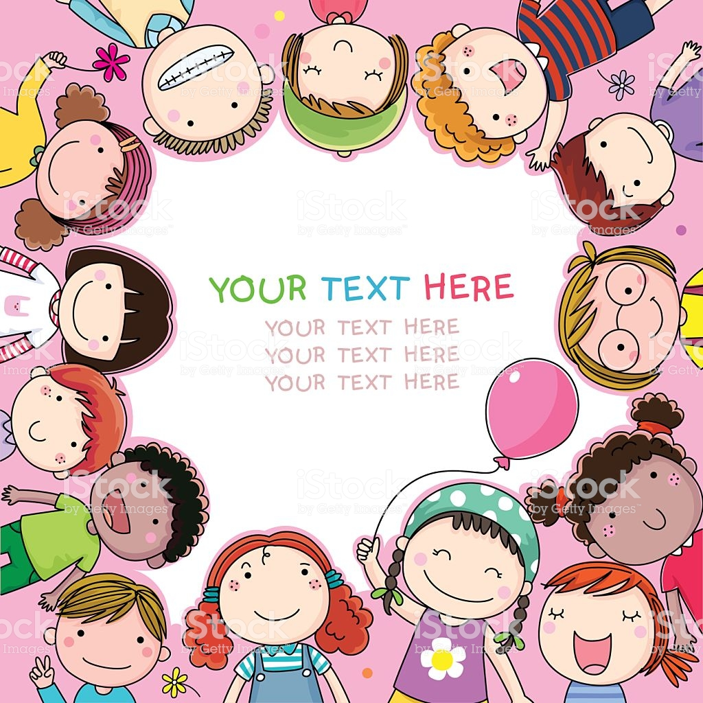 Background With Cute Cartoon Kids Stock Illustration   Download 1024x1024