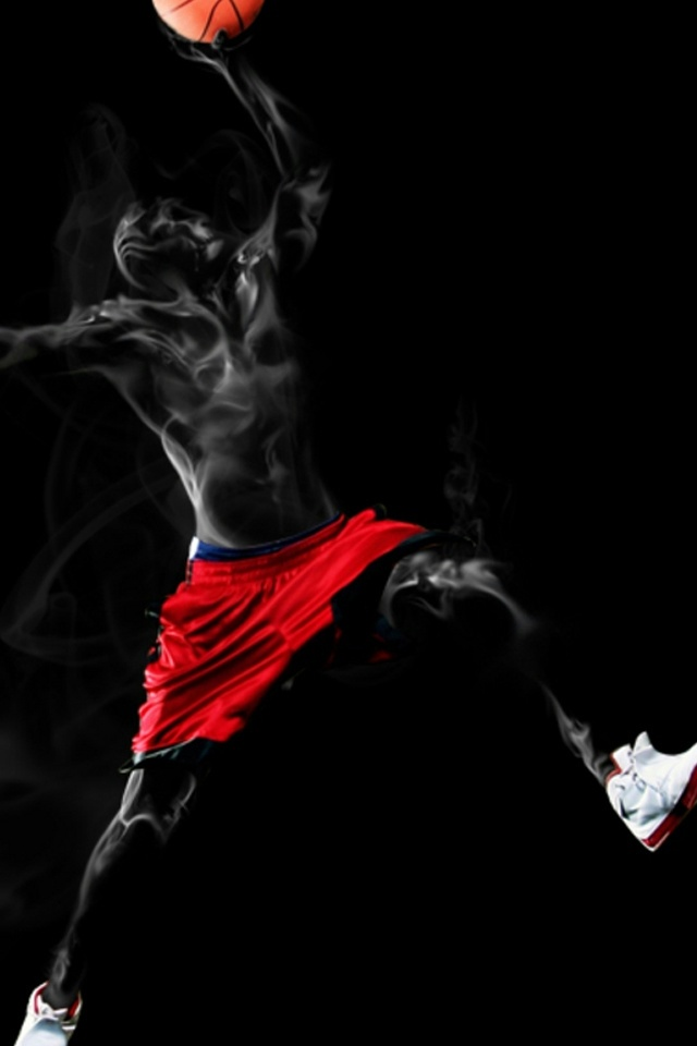 Abstract Basketball iPhone 4 Wallpaper and iPhone 4S Wallpaper 640x960