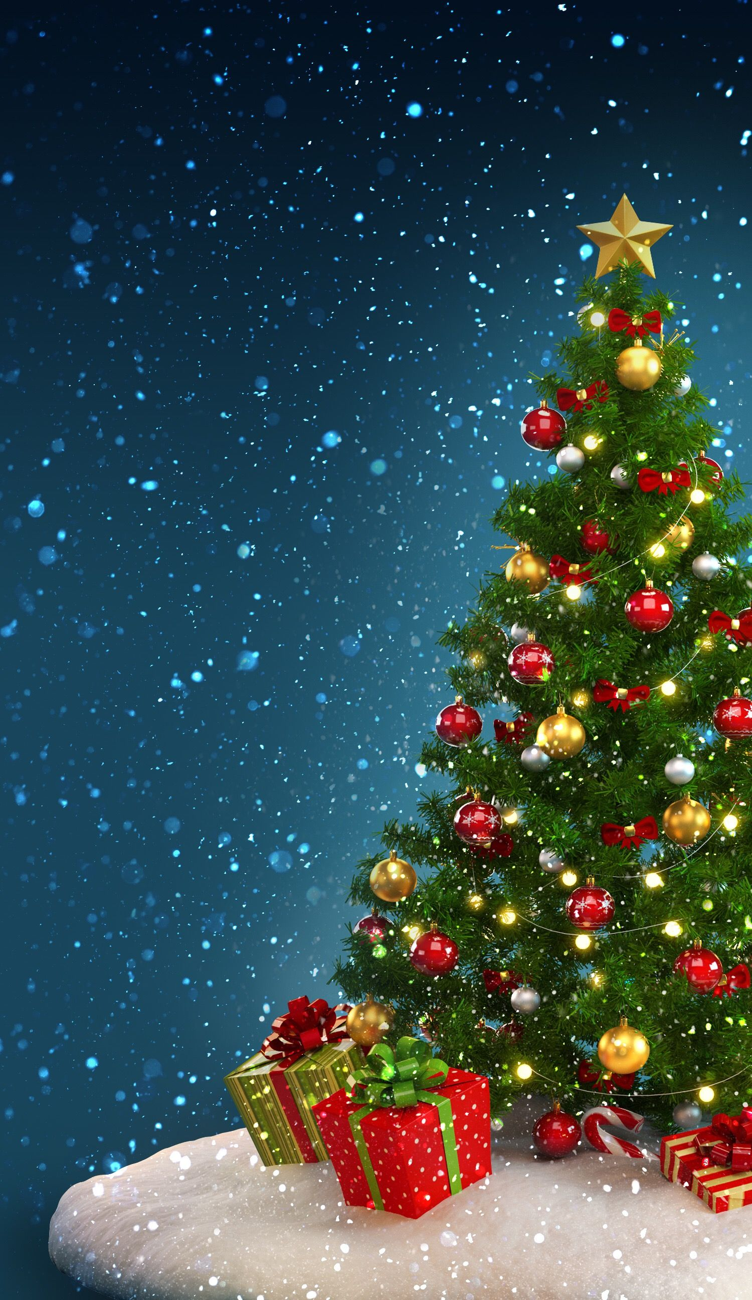 christmas tree wallpaper Holidays Navid 1500x2592