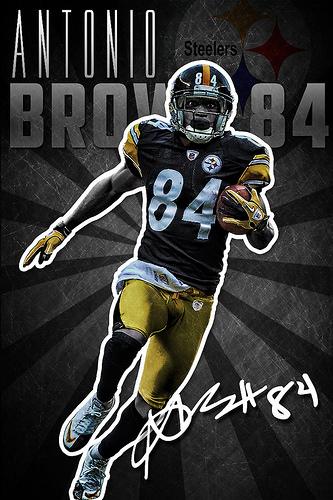 Antonio Brown Pittsburgh Steelers iPhone Wallpaper Flickr   Photo 333x500