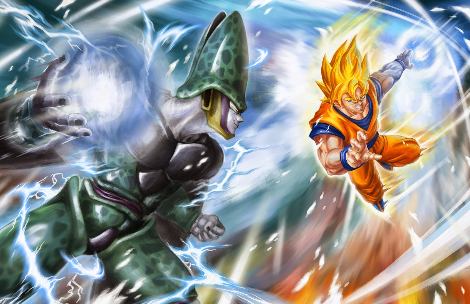 Goku vs Cell Dragon Ball Z   Fondos de Pantalla HD   Wallpapers HD 1600x1035
