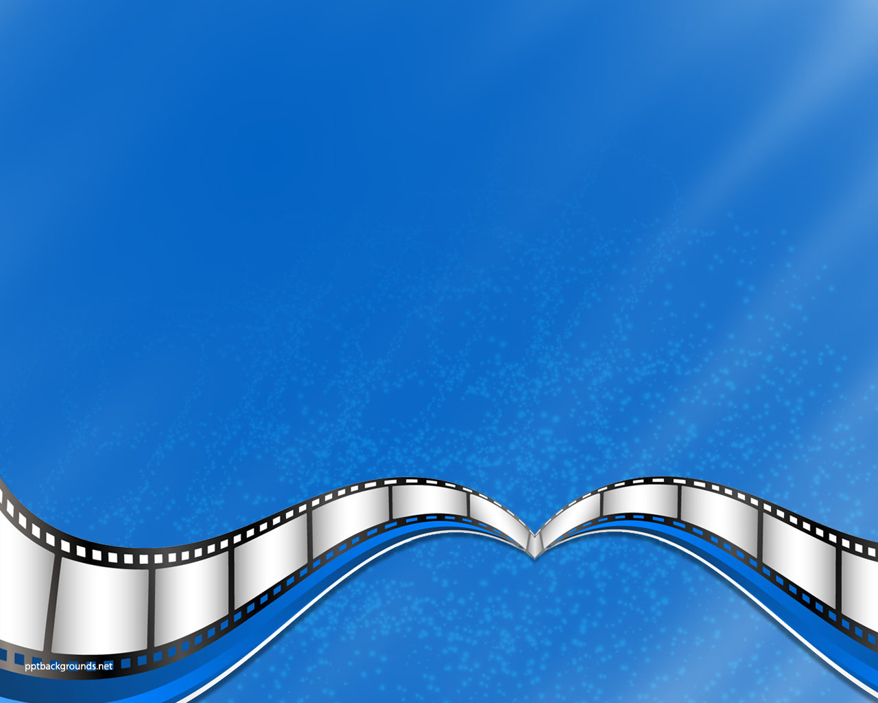 Blue Movie Film Strip Backgrounds For PowerPoint   Business and 1280x1024