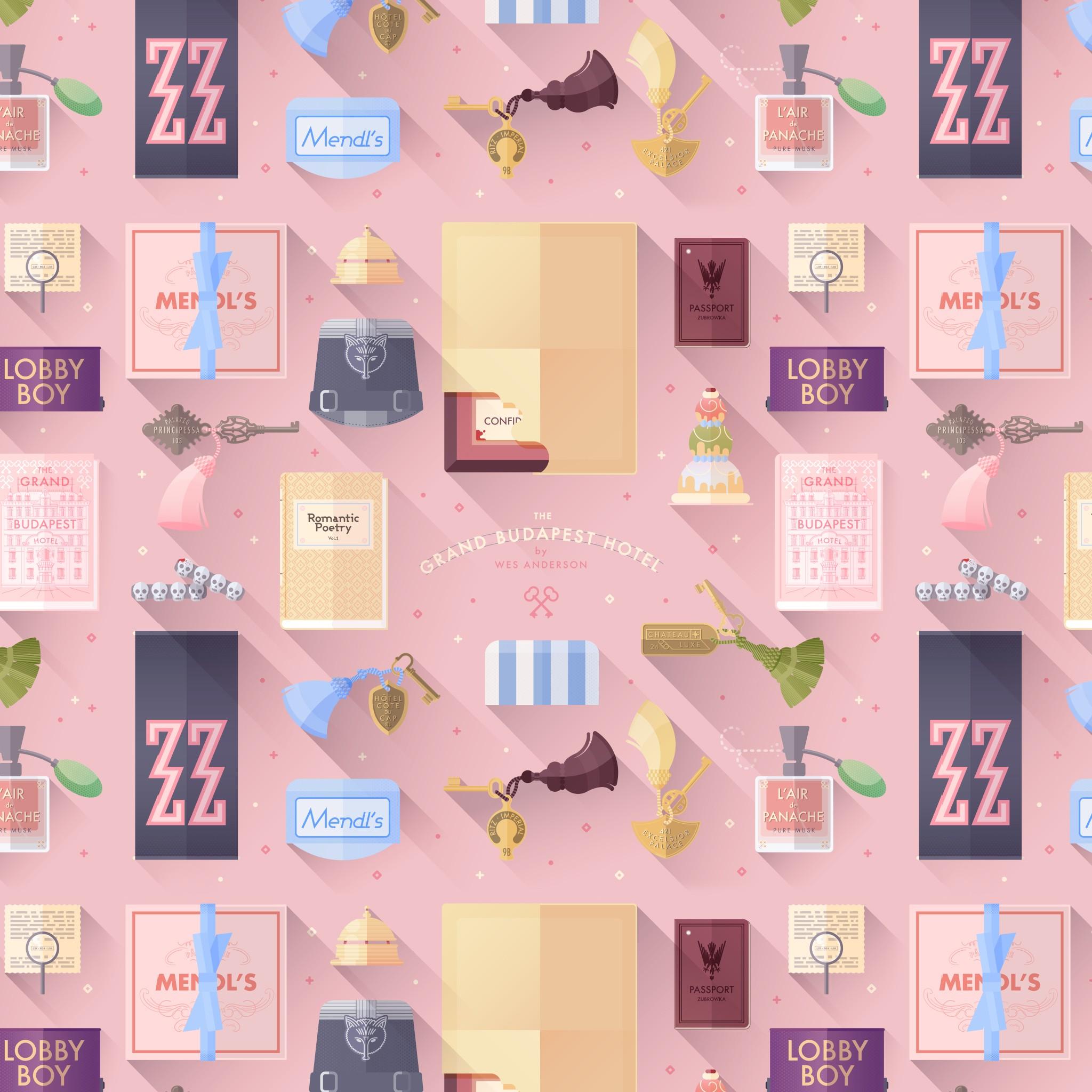 Poolga Lorena G   Grand Budapest Hotel   Pattern 2048x2048
