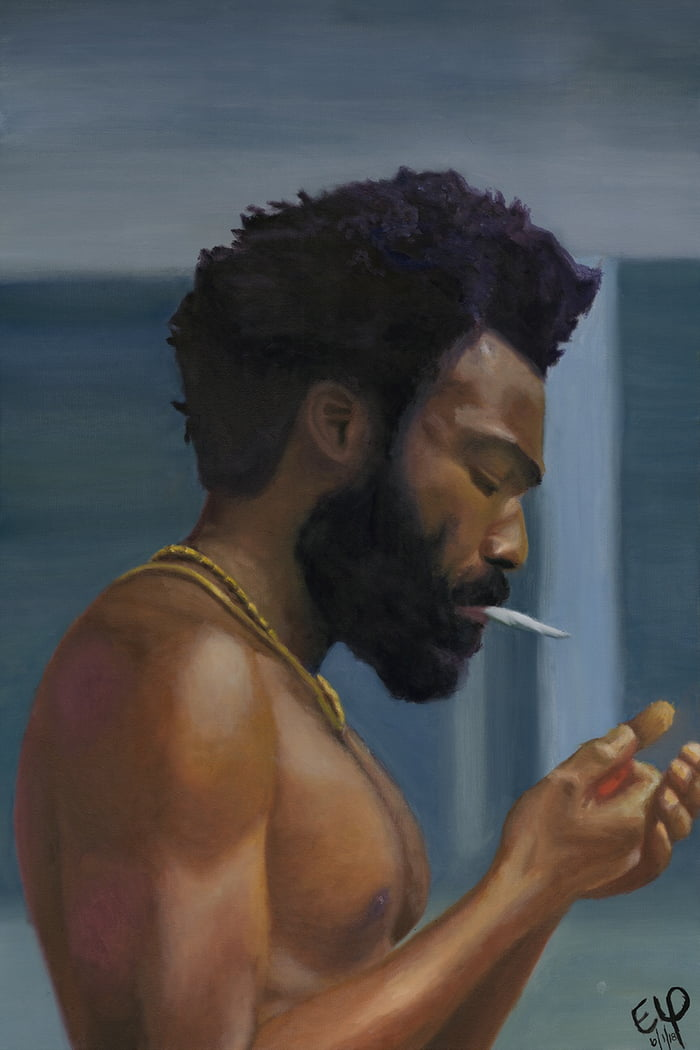 This is America My first oil painting inspired by Childish 700x1050