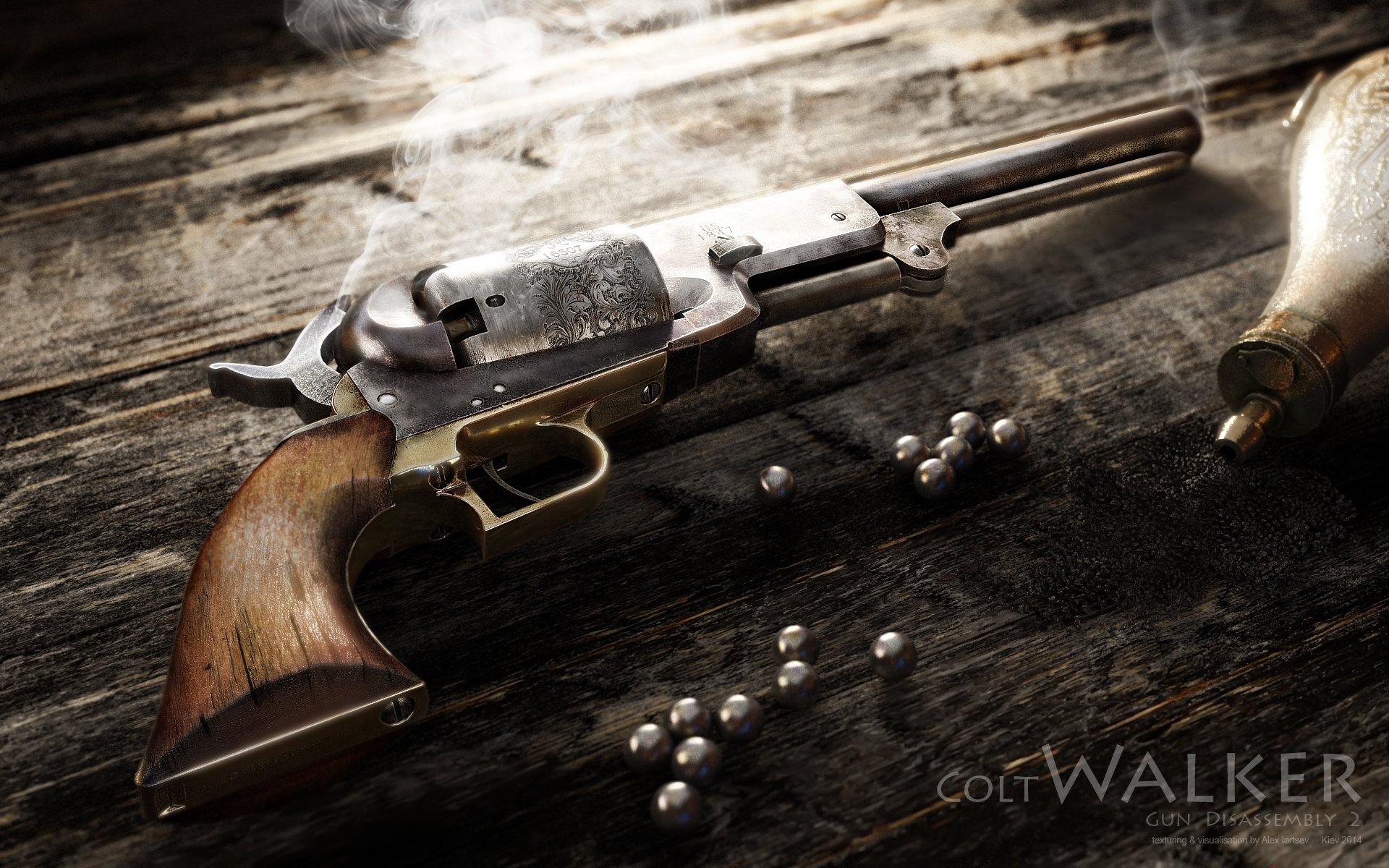 colt walker weapon pistol western wallpaper background 1920x1200