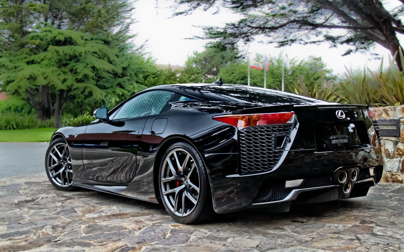 Black Lexus LFA Supercar Wallpaper   HD 1600x1000