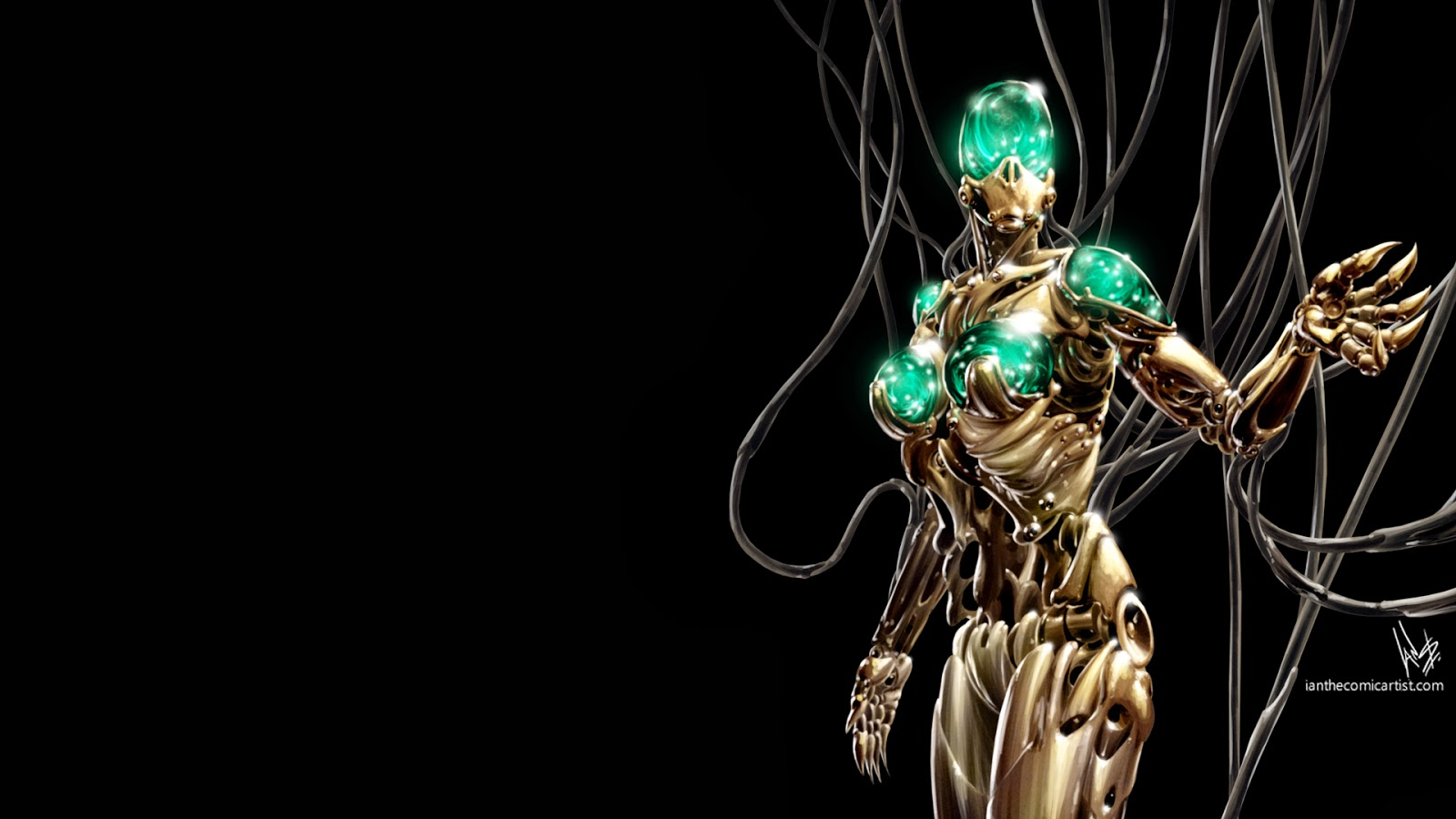 Photography of Ian Sokoliwski Cyberpunk Robot Painting Wallpaper 1600x900