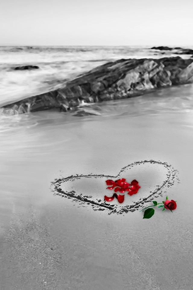 Love wallpaper display retina valentine iphone beach   8182 640x960