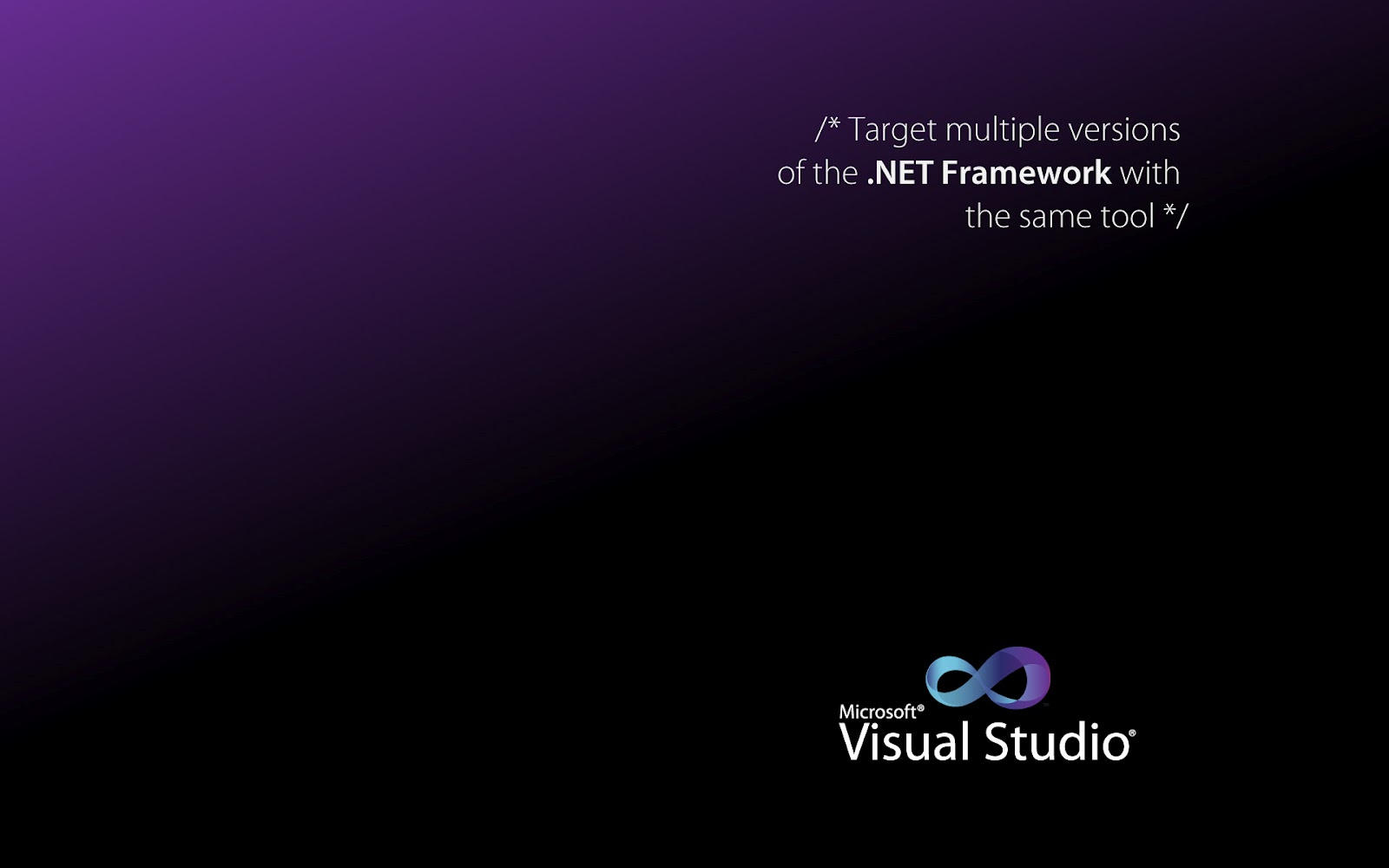 Ok you download all or some wallpapers of Microsoft Visual Studio 2010 1600x1000