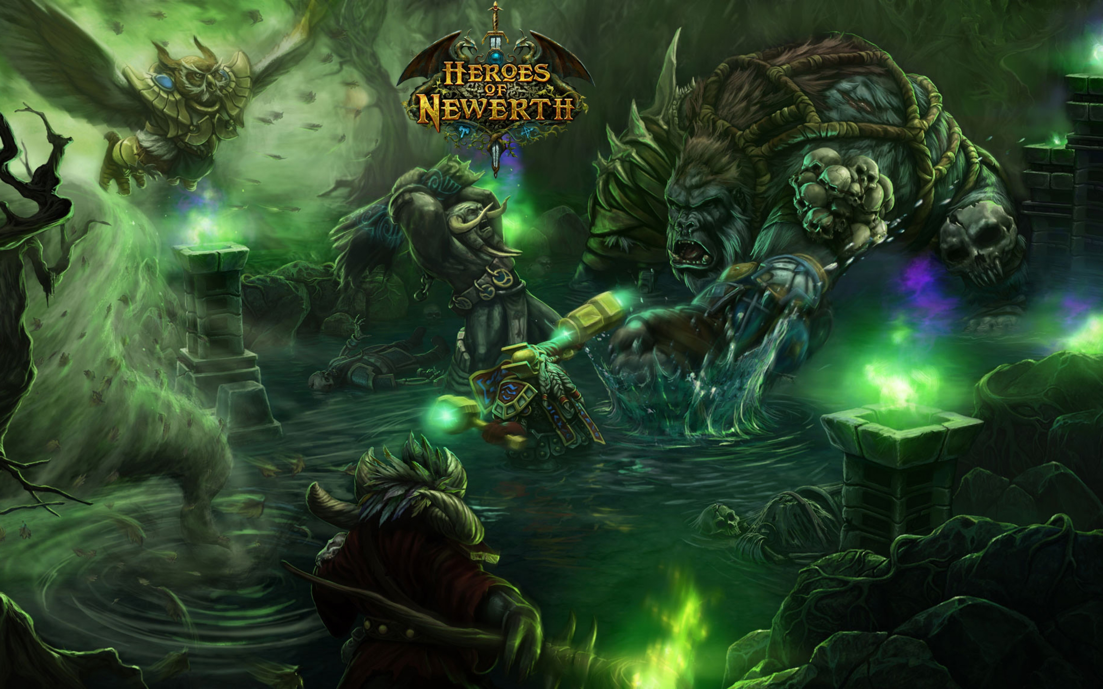 3840x2400 Wallpaper world of warcraft heroes of newerth characters 3840x2400