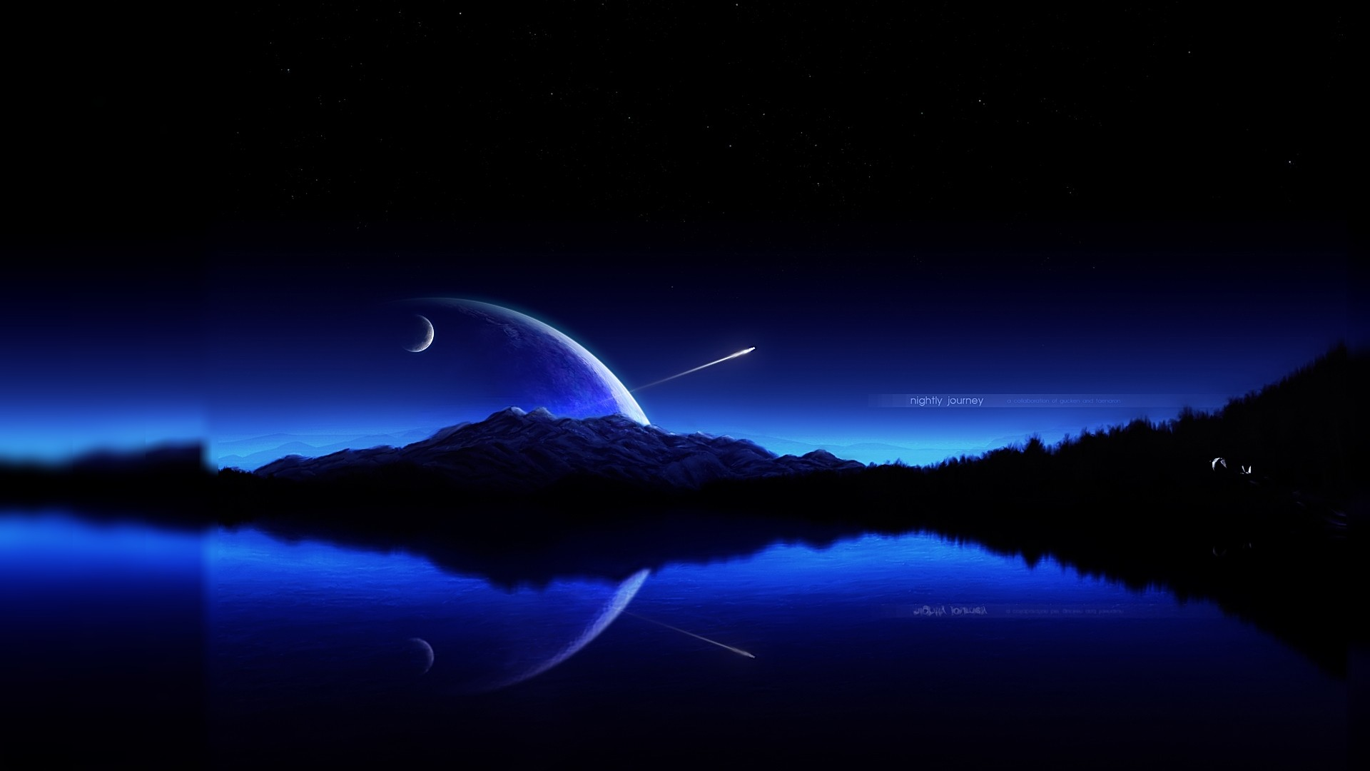Download blue sky shooting star HD wallpaper 1920x1080