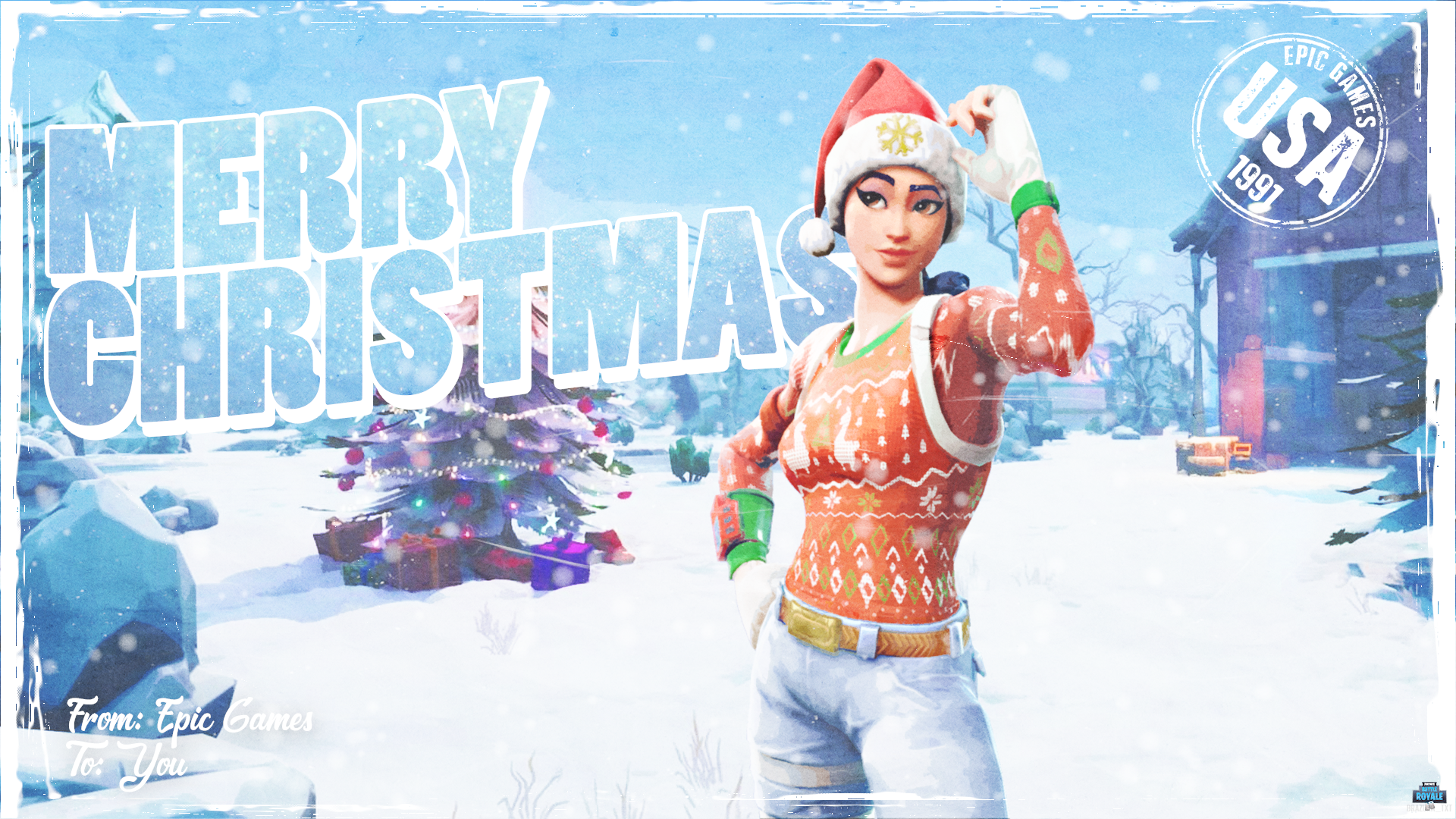 13 Fortnite Christmas Wallpaper For iPhone Android and Desktop 1920x1080