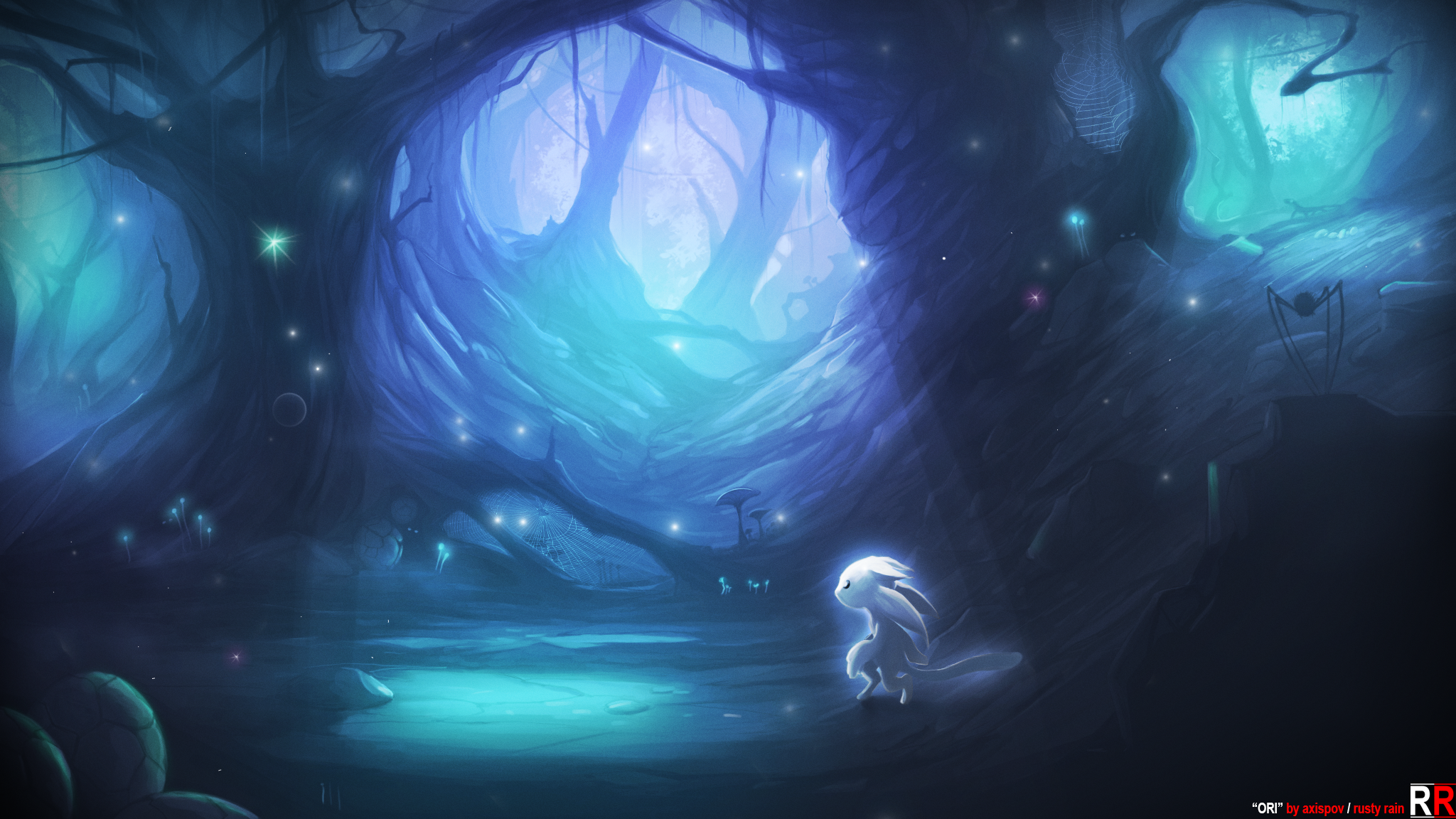 Free Download Ori And The Blind Forest Fanart By Axispov 48x1152 For Your Desktop Mobile Tablet Explore 50 Wallpaper And Blinds For Less American Blinds And Wallpaper Wallpaper For