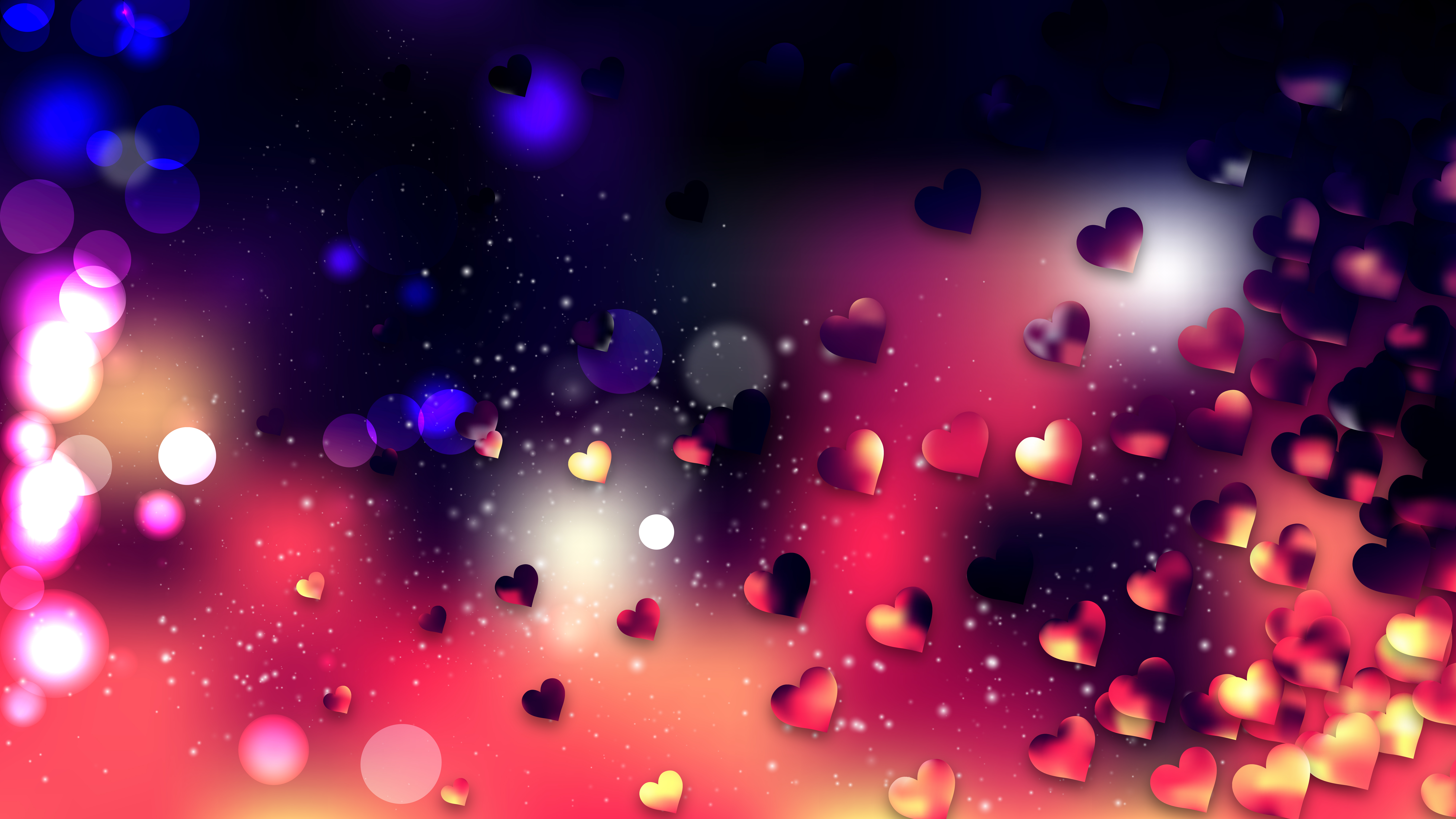 Red and Black Valentines Background Image 8000x4500