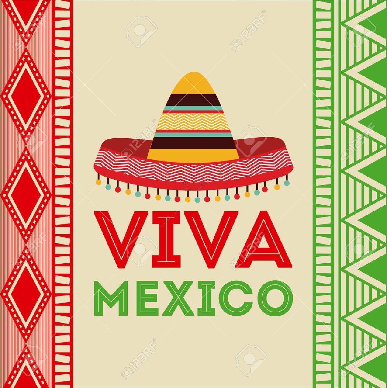 Mexico Design Over Colorful Background Vector Illustration 1297x1300