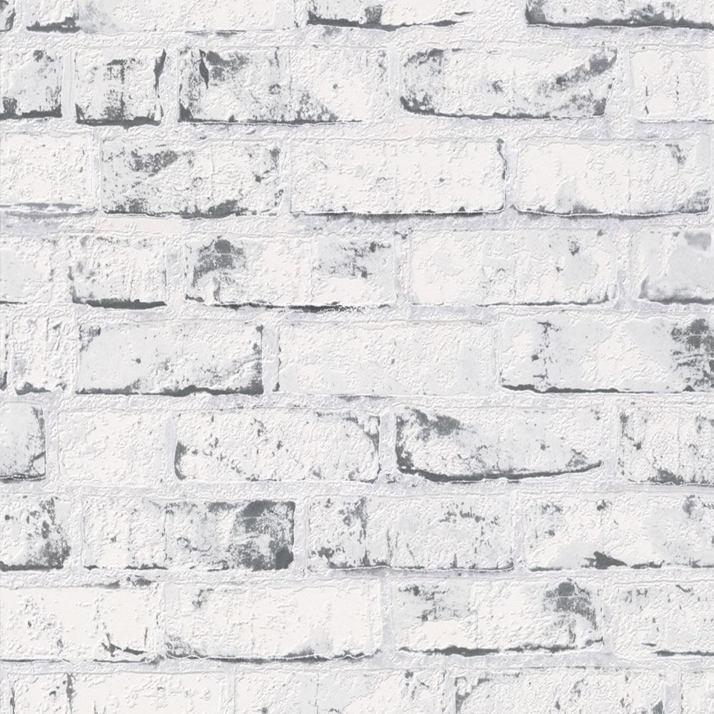White 9078 37 Brick Effect Distressed As Creation Wallpaper 1000x1000